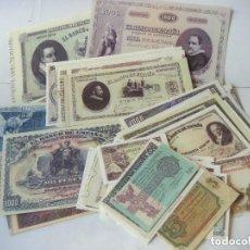 Billetes españoles: BILLETES REPRODUCION AUTORIZADA DE BILLETES DE LA PESETA LOTE DE 52 BILLETES LOTE-Nº-1.. Lote 176759338