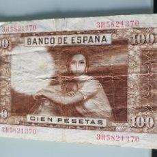 Billetes españoles: BILLETE DE CIEN PESETAS ESPAÑA 1953. Lote 176792309