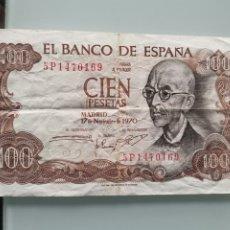 Billetes españoles: BILLETE DE CIEN PESETAS ESPAÑA 1970. Lote 176792322