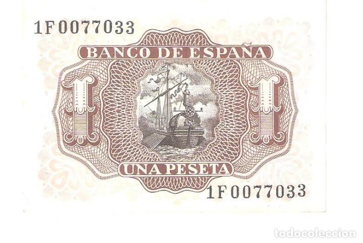 Billetes españoles: BILLETE DE ESPAÑA DE 1 PESETA DE 1953 CIRCULADA MARQUES DE SANTA CRUZ - Foto 2 - 176836273