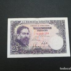 Billetes españoles: BILLETE DE 25 PESETAS DE ISAAC ALBENIZ DEL AÑO 1954.. Lote 176850157