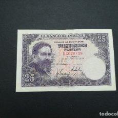 Billetes españoles: BILLETE DE 25 PESETAS DE ISAAC ALBENIZ DEL AÑO 1954.. Lote 176851188