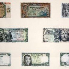Billetes españoles: CONJUNTO DE 8 BILLETES DE 5 PESETAS DE DIFERENTES AÑOS... BURGOS 1938 - MADRID 1940, ETC..... Lote 176982724