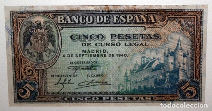 Billetes españoles: CONJUNTO DE 8 BILLETES DE 5 PESETAS DE DIFERENTES AÑOS... BURGOS 1938 - MADRID 1940, ETC.... - Foto 4 - 176982724