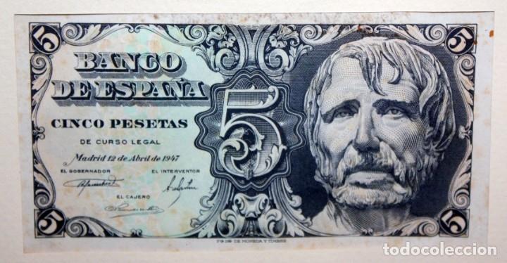 Billetes españoles: CONJUNTO DE 8 BILLETES DE 5 PESETAS DE DIFERENTES AÑOS... BURGOS 1938 - MADRID 1940, ETC.... - Foto 6 - 176982724