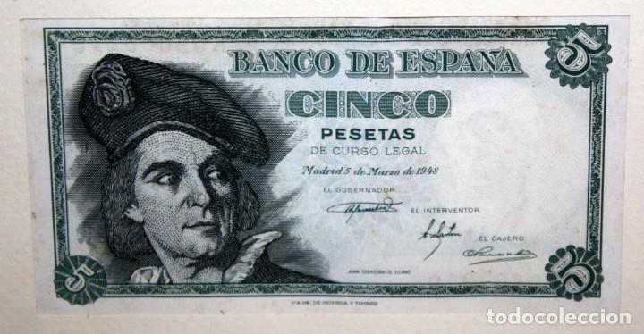 Billetes españoles: CONJUNTO DE 8 BILLETES DE 5 PESETAS DE DIFERENTES AÑOS... BURGOS 1938 - MADRID 1940, ETC.... - Foto 8 - 176982724