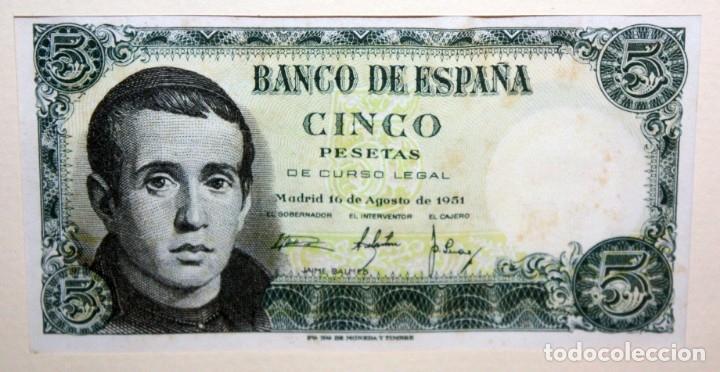 Billetes españoles: CONJUNTO DE 8 BILLETES DE 5 PESETAS DE DIFERENTES AÑOS... BURGOS 1938 - MADRID 1940, ETC.... - Foto 9 - 176982724