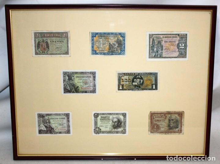 Billetes españoles: CONJUNTO DE 8 BILLETES DE 1 Y 2 PESETAS DE DIFERENTES AÑOS... 1 BURGOS 1940 - 2 BURGOS 1938, ETC.. - Foto 2 - 176983132