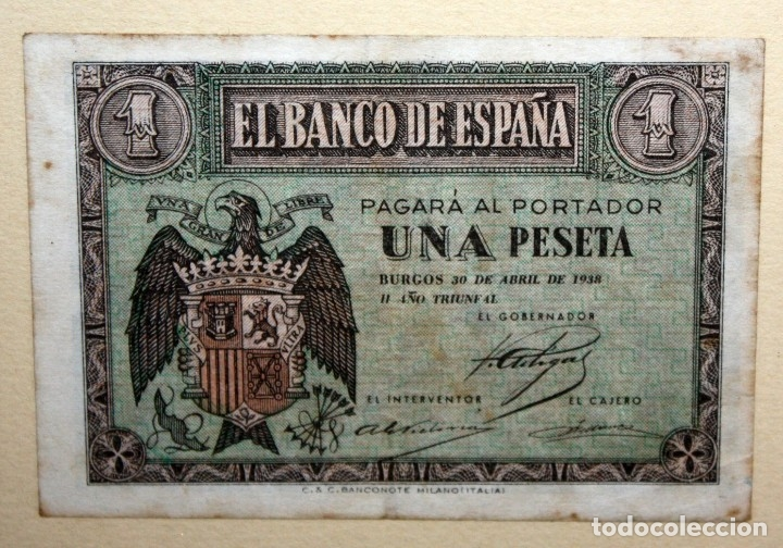 Billetes españoles: CONJUNTO DE 8 BILLETES DE 1 Y 2 PESETAS DE DIFERENTES AÑOS... 1 BURGOS 1940 - 2 BURGOS 1938, ETC.. - Foto 3 - 176983132