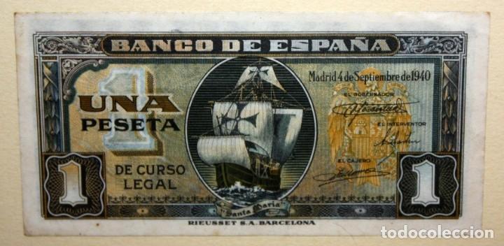 Billetes españoles: CONJUNTO DE 8 BILLETES DE 1 Y 2 PESETAS DE DIFERENTES AÑOS... 1 BURGOS 1940 - 2 BURGOS 1938, ETC.. - Foto 7 - 176983132