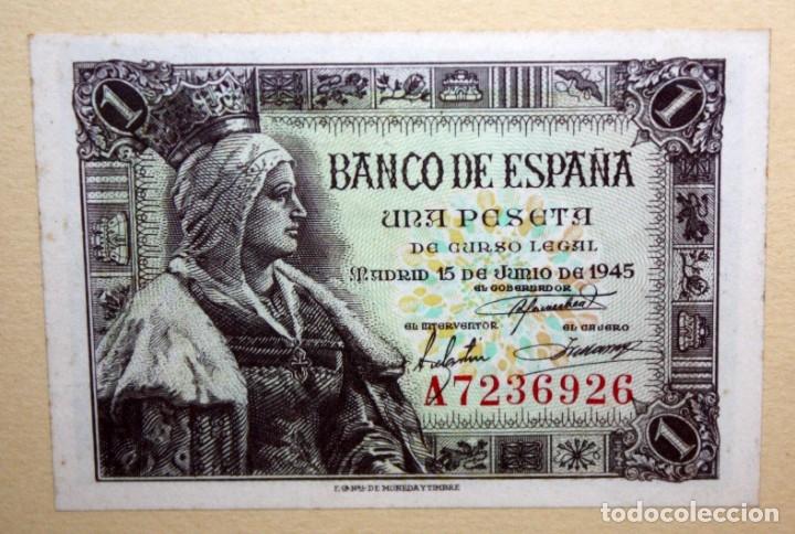 Billetes españoles: CONJUNTO DE 8 BILLETES DE 1 Y 2 PESETAS DE DIFERENTES AÑOS... 1 BURGOS 1940 - 2 BURGOS 1938, ETC.. - Foto 8 - 176983132