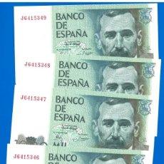 Billetes españoles: 1000 PESETAS 1979, 5 BILLETES CORRELATIVOS SERIE J, SIN CIRCULAR, PLANCHA. Lote 177122883