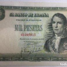 Billetes españoles: 1000 PESETAS 1949 - EBC . Lote 177381070