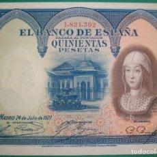 Billetes españoles: BANCO DE ESPAÑA. 500 PESETAS. 24 JULIO 1927. EBC+. Lote 177576818