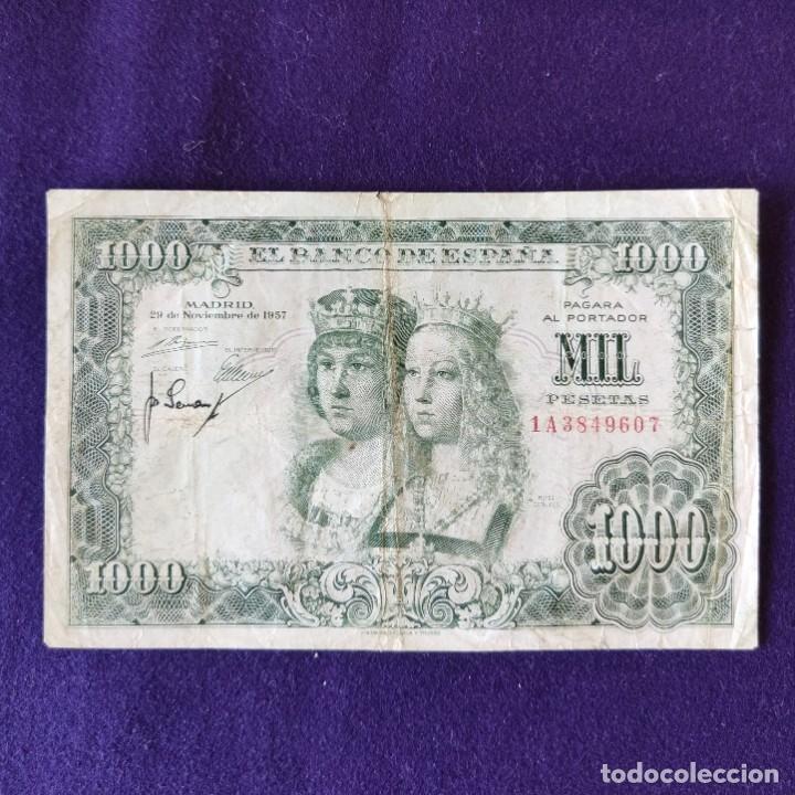 BILLETE ORIGINAL DE 1000 PESETAS. 1957. USADO. REYES CATÓLICOS. (Numismática - Notafilia - Billetes Españoles)