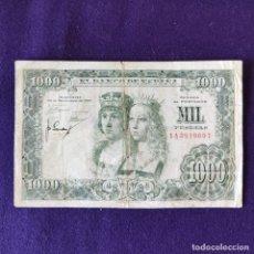Billetes españoles: BILLETE ORIGINAL DE 1000 PESETAS. 1957. USADO. REYES CATÓLICOS. . Lote 177664165
