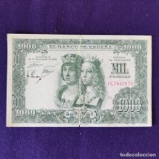 Billetes españoles: BILLETE ORIGINAL DE 1000 PESETAS. 1957. USADO. REYES CATÓLICOS.. Lote 177664249