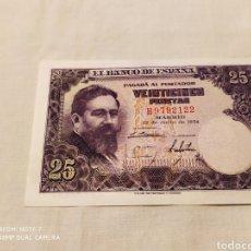 Billetes españoles: 25 PESETAS 22 DE JULIO DE 1954, SIN CIRCULAR. Lote 178630082
