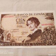 Billetes españoles: 100 PESETAS 19 NOVIEMBRE DE 1965, SIN CIRCULAR. Lote 203583513