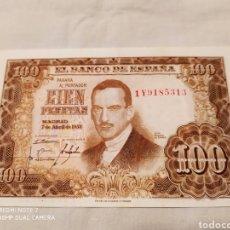 Billetes españoles: 100 PESETAS, 7 DE ABRIL DE 1953, SIN CIRCULAR. Lote 178630421