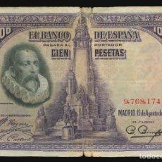 Billetes españoles: 100 PESETAS 1928. Lote 178768732