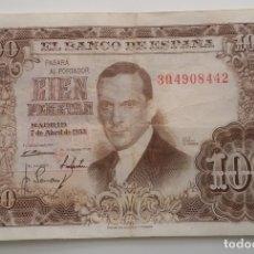 Billetes españoles: BILLETE CIEN 100 PESETAS JULIO ROMERO DE TORRES MADRID 7 ABRIL 1953. Lote 178884053