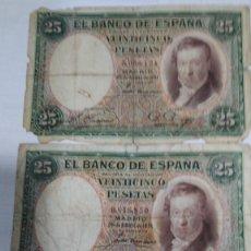 Billetes españoles: TRES BILLETES 25 PESETAS. VICENTE LOPEZ. 1931. BC--. Lote 178955802