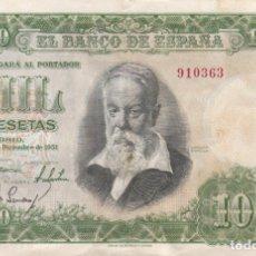 Billetes españoles: OFERTA !! BILLETE 1000 PESETAS BANCO DE ESPAÑA. MADRID 31 DICIEMBRE 1951. JOAQUIN SOROLLA. SIN SÉRIE. Lote 178969046