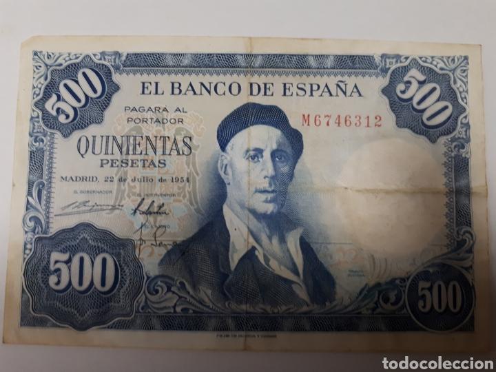 BILLETE DE 500 PESETAS AÑO 1954 (Numismática - Notafilia - Billetes Españoles)