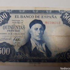 Billetes españoles: BILLETE DE 500 PESETAS AÑO 1954. Lote 179204851