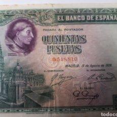 Billetes españoles: BILLETE DE 500 PESETAS AÑO 1928. Lote 179205057