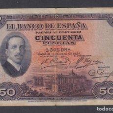 Billetes españoles: BANCO DE ESPAÑA. 50 PESETAS. 17 MAYO 1927. SIN SERIE. Lote 179231478