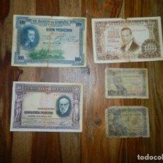 Billetes españoles: BILLETES ESPAÑOLES...LOTE. Lote 179344367