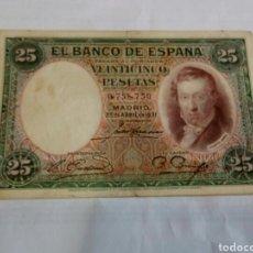 Billetes españoles: BILLETE DE 25 PESETAS. Lote 179537075