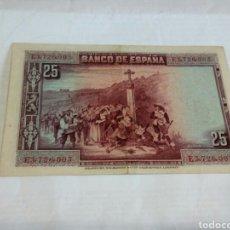 Billetes españoles: BILLETE DE 25 PESETAS. Lote 179537193