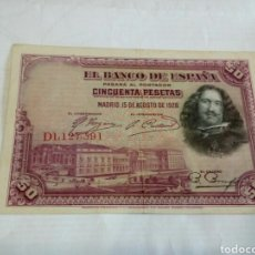 Billetes españoles: BILLETE DE 50 PESETAS. Lote 179537281