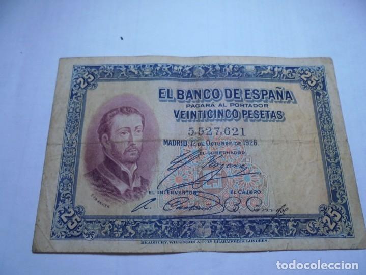 MAGNIFICOS 25 BILLETES ANTIGUOS DEL 1926 DE 25 PESETAS (Numismática - Notafilia - Billetes Españoles)