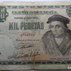 Banconote spagnole: BILLETE 1000 PESETAS. JOANNES LUDOVICUS VIVES.1946. BC. Lote 211269800