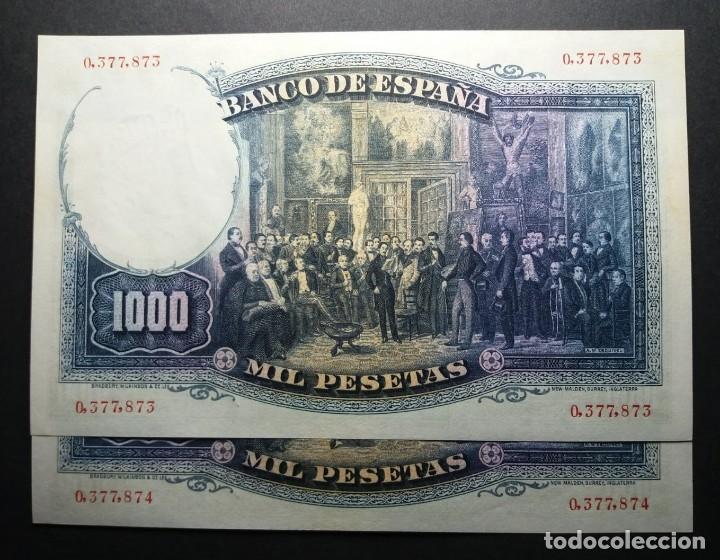 Billetes españoles: BILLETES DE 1000 PESETAS ZORRILLA. 1931.SC PAREJA SIN CIRCULAR - Foto 2 - 180051633