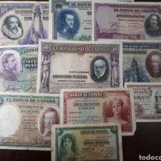 Billetes españoles: 10 BILLETES DE ESPAÑA USADOS R44. Lote 180148946