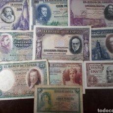 Billetes españoles: 10 BILLETES DE ESPAÑA USADOS R45. Lote 180148990