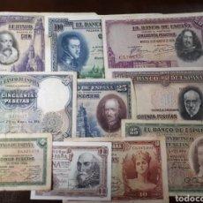 Billetes españoles: 10 BILLETES DE ESPAÑA USADOS R46. Lote 180149108