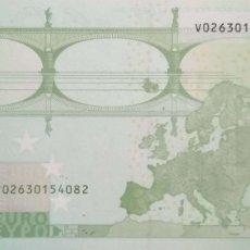 Billetes españoles: 100 EUROS DE LATERCERA FIRMA DE DRAGHI CON LETRA V DE ESPAÑA, Nº BAJO, SIN CIRCULAR/PLANCHA. Lote 180150971
