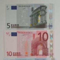 Billetes españoles: 5,10,20 Y 50 EUROS DE LA PRIMERA FIRMA DE DUISEMBERG DE LA V DE ESPAÑA, CON NÚMERO BAJO,SIN CIRCULAR. Lote 180151198