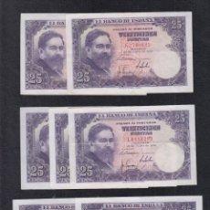 Billetes españoles: EDIFIL 467A. 25 PTAS 22 DE JULIO DE 1954. LOTE DE 7 BILLETES DIFERENTES CALIDADES.. Lote 180159261