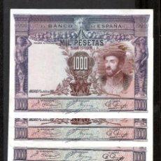 Billetes españoles: 5 BILLETES 1000 PESETAS 1925 SIN SERIE EBC-/EBC. Lote 180164346