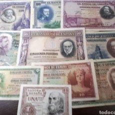 Billetes españoles: 10 BILLETES DE ESPAÑA USADOS LOT.I4. Lote 180173062