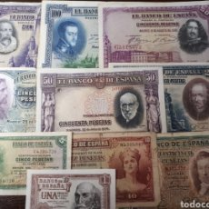 Billetes españoles: 10 BILLETES DE ESPAÑA USADOS LOT.I6. Lote 180173322