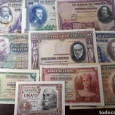 Billetes españoles: 10 BILLETES DE ESPAÑA USADOS LOT.I7. Lote 180173440