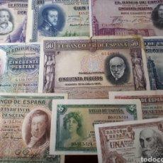 Billetes españoles: 10 BILLETES DE ESPAÑA USADOS LOT.I8. Lote 180173576